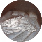 """Insomnia"" 2"" Diameter Oil on mylar on plexiglass"